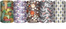 ZUGP-UG1-R-710 Упаковочная бумага немелованная для оформления подарков, рулон в термоусадочной пленке, Non-branded