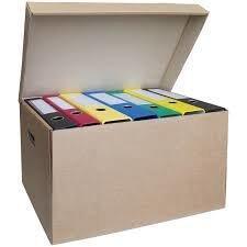 Архивный короб  480х325х295, гоф. картон, крафт