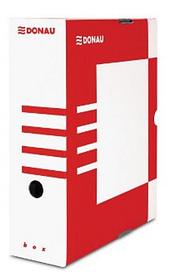 Архивный короб, A4, 100мм, картон, красный Donau