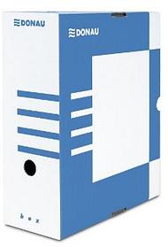 Архивный короб, A4, 120мм, картон, голубой Donau