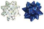 Бант-звезда с золотой полоской для праздничной упаковки, 2 шт