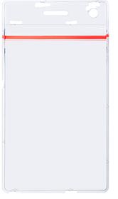 Бейджи вертикальный с застежкой Zip-Lock 62х88мм