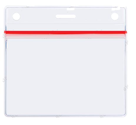Бейджи горизонтальный с застежкой Zip-Lock 90х60, фото 2