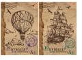 Бум д/черч 10л Папка А3 без штампа 7765/2-EAC Старая карта: парусник; воздушный шар