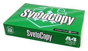 "Бумага ""Svetocopy"" формат А4, пл-ть 80 гр/м2, 500 лист/пач, белизна по CIE143% класс С"