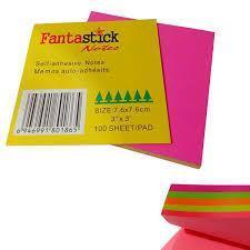 Бумага д/зам клейкая 76*76 Fantastik неон 5 цветов (350л)