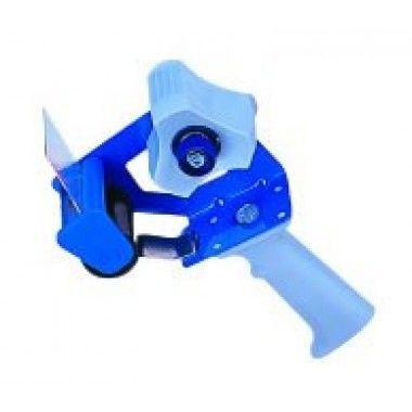 Держатель для ленты клейкой 48мм, с ручкой, синий