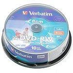 Диски DVD-RW Verbatim AZO , упаковка 10 шт