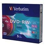 Диски DVD-RW Verbatim [43563], упаковка 5 шт