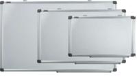 Доска магнитно-маркерная 90x120см, бело/зеленая, магнитно меловая,  алюминиевая рамка