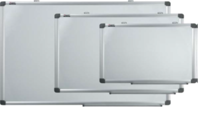 Доска магнитно-маркерная 90x180см, 2-х сторонняя белая , алюминиевая рамка, фото 2