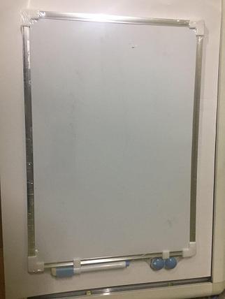 Доска магнитно-маркерная А4, алюмин. рамка, фото 2