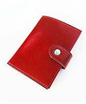 Картхолдер - кошелек, размер 84х110мм, цвет красный