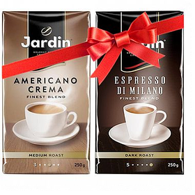 Кофе молотый Jardin Americano Crema + Espresso Di Milano, 250 гр, вакуумная упаковка