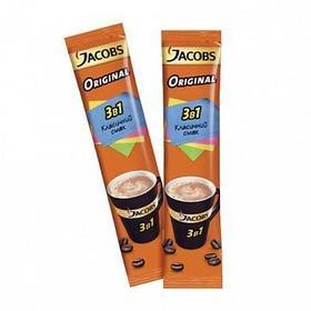 """Кофе растворимый Jacobs """"3 в 1 Original"""" мягкий, 24 пакетика"""