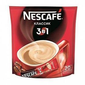 """Кофе растворимый Nescafe """"3 в 1 Классик"""", 20 пакетиков"""