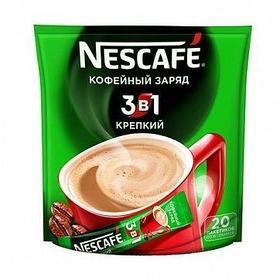 """Кофе растворимый Nescafe """"3 в 1 Кофейный заряд"""" крепкий, 20 пакетиков"""
