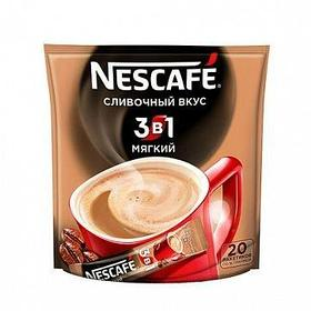 """Кофе растворимый Nescafe """"3 в 1 Сливочный вкус"""" мягкий, 20 пакетиков"""