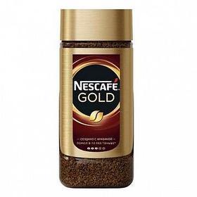 Кофе растворимый Nescafe Gold, 190 гр, стеклянная банка