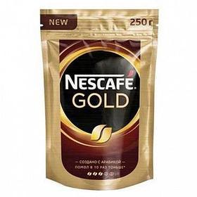 Кофе растворимый Nescafe Gold, 250 гр, вакуумная упаковка