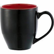 Кружка Sapata, 450мл, чёрная/красная