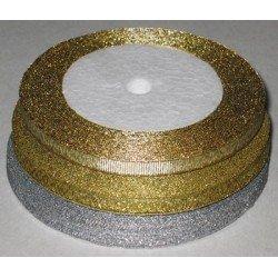Лента для прошивки, атласная 25м. золото