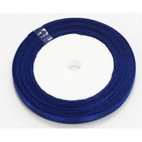 Лента для прошивки, атласная 25м. синяя