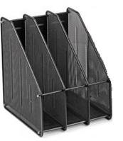 Лоток для документов вертикальный, 3 отделения, метал., черный