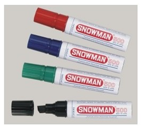 Маркер перманентный SNOWMAN - цвет красный