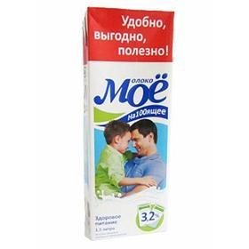 Молоко МОЁ 3,2% жир 1 L NEW