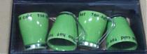 Набор 4 кружки зелёный