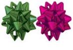 Набор из 2-х металлизированых бантов-цветков (малых) для праздничной упаковки