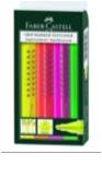 Набор маркеров 4 цвета Faber-Castell Маркер текстовой, 1-5мм, трехгранная форма, скошенный наконечник