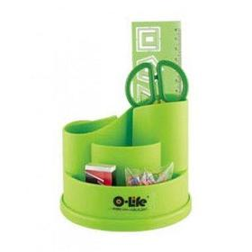 Набор настольный 4 предмета, крутящийся, пластик, зеленый O-Life
