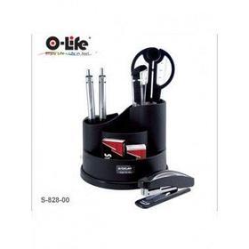Набор настольный 9 предметов, крутящийся, пластик, черный O-Life