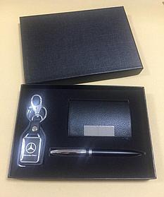 Набор подарочный 207 (ручка, брелок, визитница)