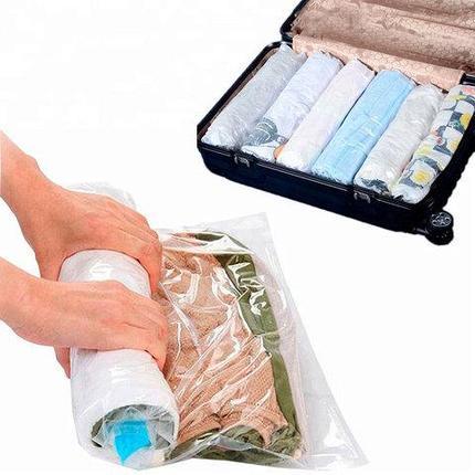 Пакет вакуумный скручивающийся дорожный Roll Up Bag (50x35 см), фото 2