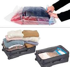 Пакет вакуумный скручивающийся дорожный Roll Up Bag (50x35 см), фото 3