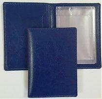 Обложка для документов, размер 100х140мм, цвет синий, фото 2