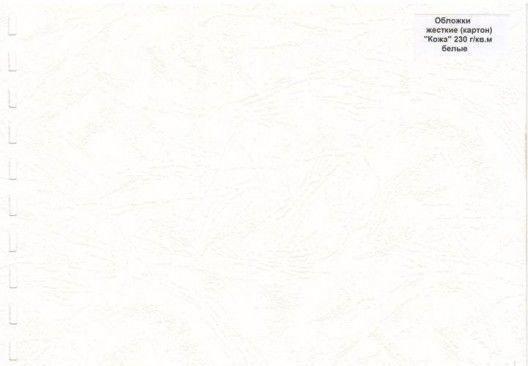 Обложка картон кожа ANTELOPE А4/100/230г белая, фото 2