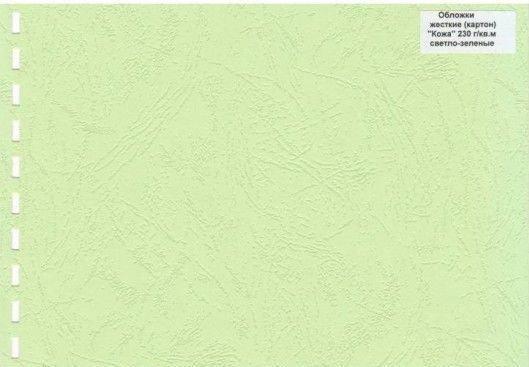 Обложка картон кожа iBind А4/100/230г светло-зеленый