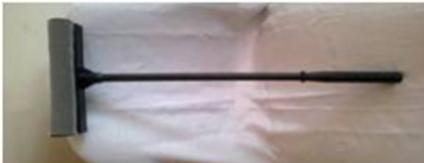 Окномойка 25см. + пластмассовая рукоятка 50 см, фото 2