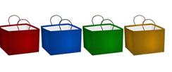 Пакет голографичеcкий для торта, 30x20 x30