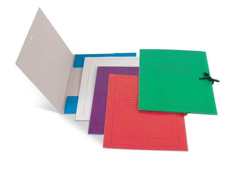 Папка д/бумаг А4 с завязками карт. 300г/м2,красный
