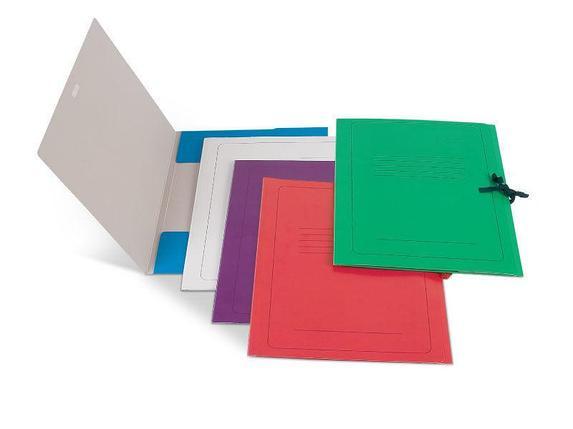 Папка д/бумаг А4 с завязками карт. 300г/м2,красный, фото 2