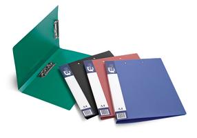 Папка для бумаг с 2-мя прижимами РР А4, синий