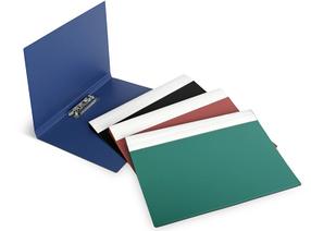 Папка для бумаг с прижимом  А4, синий