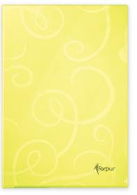 Папка-уголок , А4 80мк, лимон