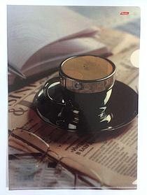 Папка-уголок А4 180 мк, Кофе