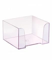 Пластбокс СТАММ прозрачный для бумажного блока 9х9х5 см, фото 2